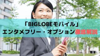 「BIGLOBEモバイル」エンタメフリー・オプション徹底解説!YouTubeの画質は?
