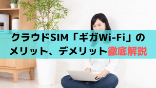 クラウドSIM最安値「ギガWi-Fi」のメリット、口コミ・評判は?電話確認あり