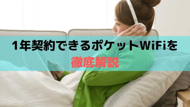 1年契約できるポケットWiFi(WiMAX、ソフトバンク回線)【2020年最新版】