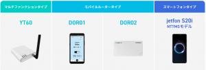 DoRACOON(ドラクーン)の選べる3タイプ